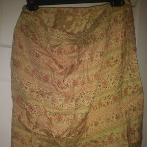 Talbots Floral and Shapes Print skirt