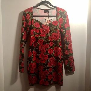 MINKPINK Long Sleeve Roses Dress | New With Tags