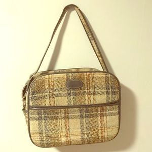 Vintage Tweed Weekender, GREAT condition