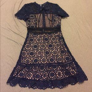 Floral lace/crochet dress