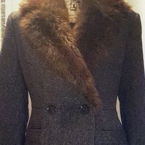 Like new faux-fur- collar coat.