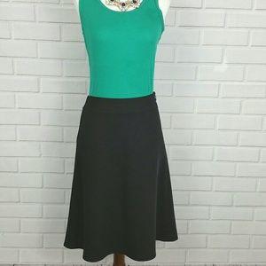 Loft Skirt Black Dot sz P Aline Lined