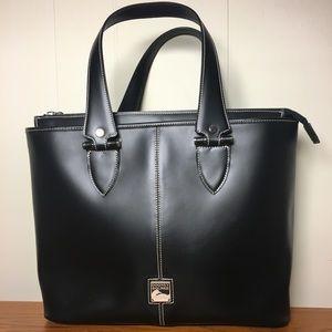 Dooney & Bourke Black Leather Tote Bag Purse USA