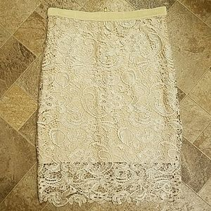 Forever 21 - Beautiful Cream Laced Skirt