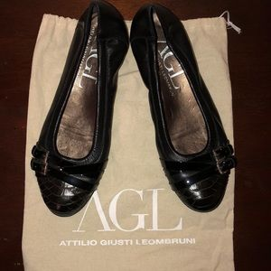 AGL Leather Flats - size 37