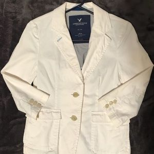 American Eagle Outfitters White Blazer