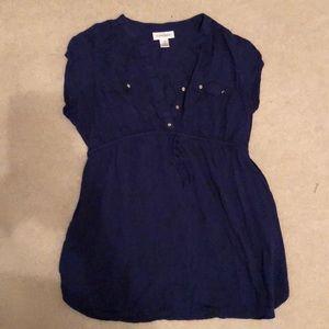 Blue motherhood maternity shirt