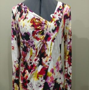 Simply Vera Wang Brush stroke top