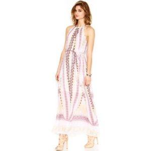 Bar III Pink Printed Maxi Dress S