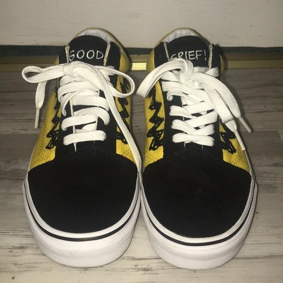 Vans Old Skool Vans X Peanuts Charlie BrownBlk
