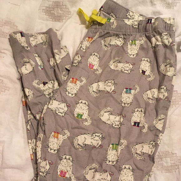 nwt christmas cat pj pants