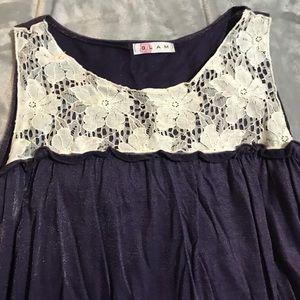 Dresses & Skirts - Glam purple bubble dress