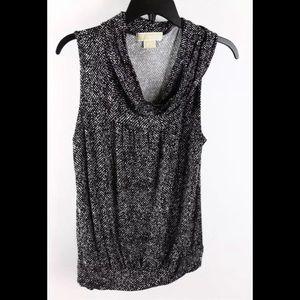 🔵MICHAEL Michael Kors Black/White Sleeveless Top