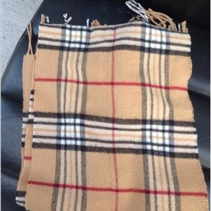 Accessories - Unbranded Plaid fringe scarf 50x11