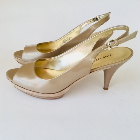 5f962b5330 Nine West Shoes | Sharina Tauoe 3 12 Slingback Heels | Poshmark