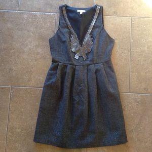 SILENCE + NOISE herringbone mini dress uo 2