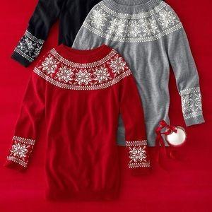Talbot snowflakes beaded sweater