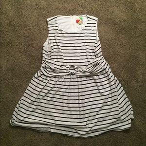 3x ModCloth B&W striped dress