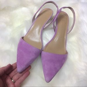 BANANA REPUBLIC LAVENDER SUEDE LEATHER HEELS 9.5