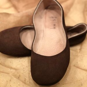 FS/NY Shoes - FS/NY brown suede ballet flat