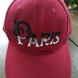 Accessories - Paris Burgundy Velcro Snap Hat