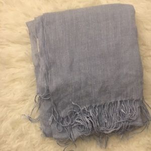 HUGE baby blue rectangle H&M scarf with tassels