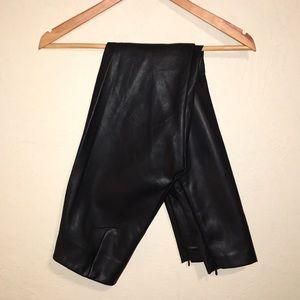 H&M Faux leather leggings