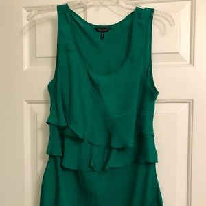 Sleeveless green daisy Fuentes top silk