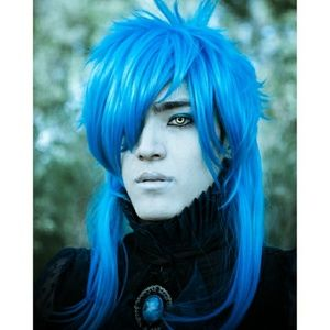 Blue Anime Aoba Cosplay Wig Long 80s David Bowie