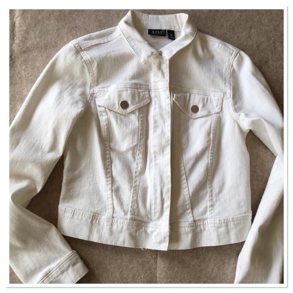 70862ef15c5 a.n.a Jackets   Blazers - A.N.A. White cropped jean jacket