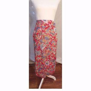 Vintage Talbots Wrap Floral Skirt