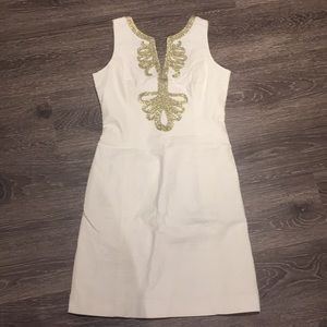 Lilly white and gold dress