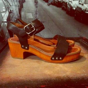 Lucky Brand wooden sandals. 50% off!