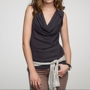J. Crew Tulipe Cami Black Silk Top