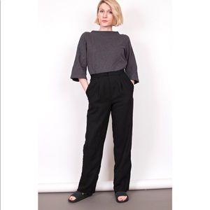 Vintage 80s black minimalist high waist trousers