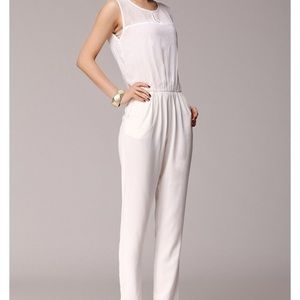 Zara Sleeveless Jumpsuit - White