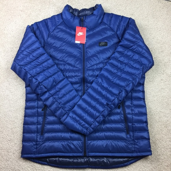 b6d571ba0884 Nike Mens Down Fill Winter Jacket Blue