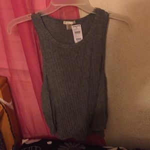 Grey tank top ,new with tags  run small so large