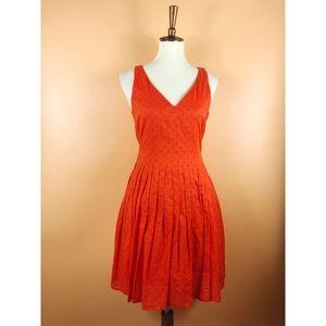 J. Crew Orange Cotton A-line Dress 6