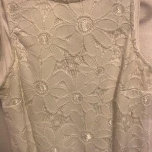 White floral XS sun dress