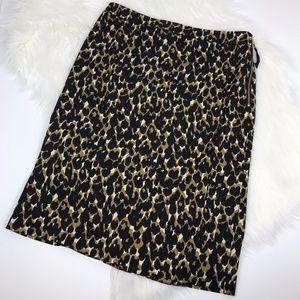 Ann Taylor Leopard Print Pencil Skirt