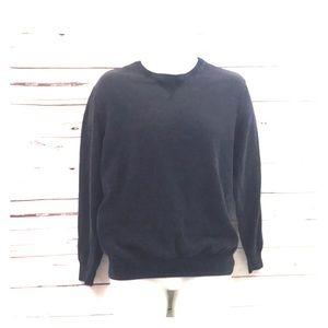 J. Crew New York 100% Cotton Sweater Size L Black
