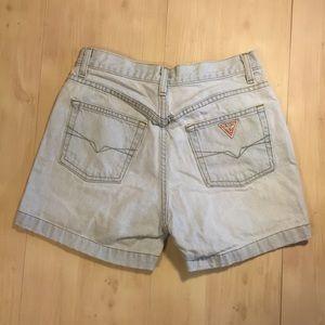 Vintage 90's Guess Jean Shorts Sz 27
