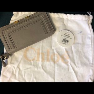 100% AUTHENTIC Chloé Marcie Long Zip Around Wallet