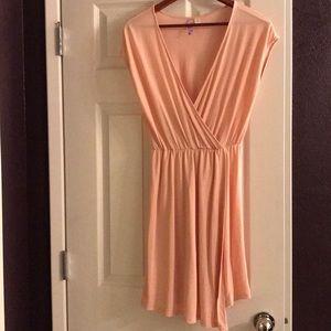 Light pink capped shoulder dress- never worn!