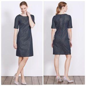Boden Freya Denim Dress WW211 Size 10L EUC