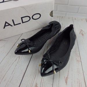 NEW Aldo Sorah Pointed Black Flats Size 7