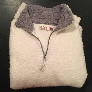SO Zip-up Fleece Pull-over