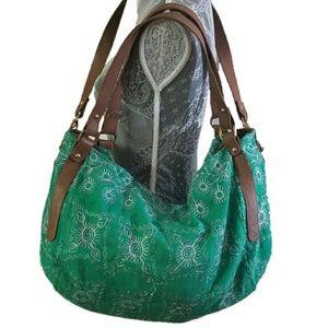 JASPER & JEERA embroidered weekender duffle bag