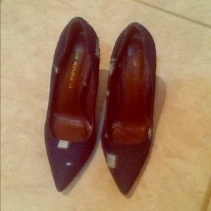 Denim high heels